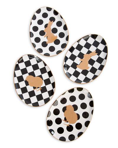 Easter Egg Plates, Set of 4