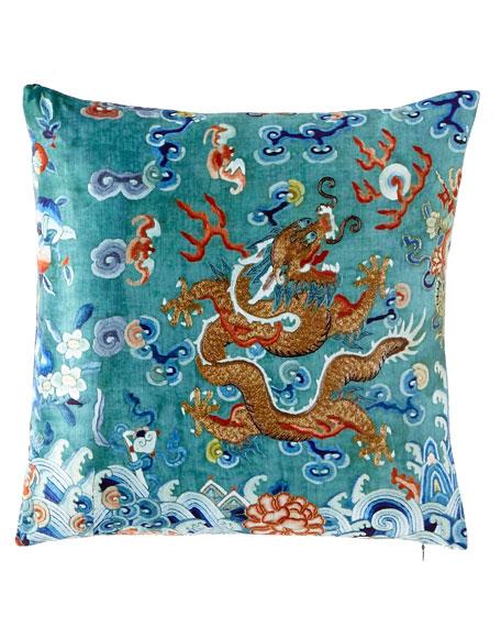 Dragon Green West Pillow