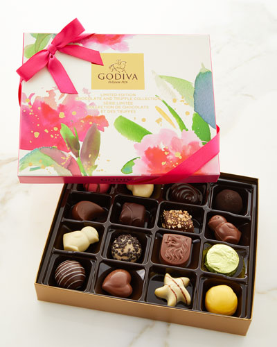 16-Piece Limited Edition Chocolate and Truffle Spring Collection Easter Gift Box