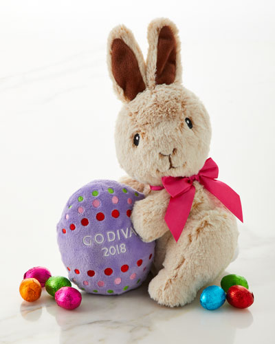 Plush Bunny with Chocolate Foil Easter Eggs