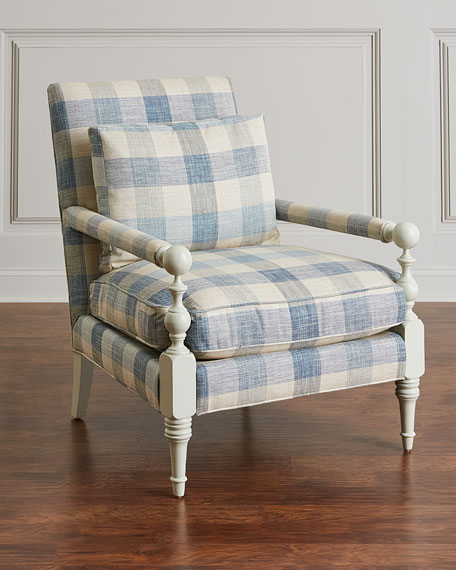 Buffalo Plaid Transitional Chair