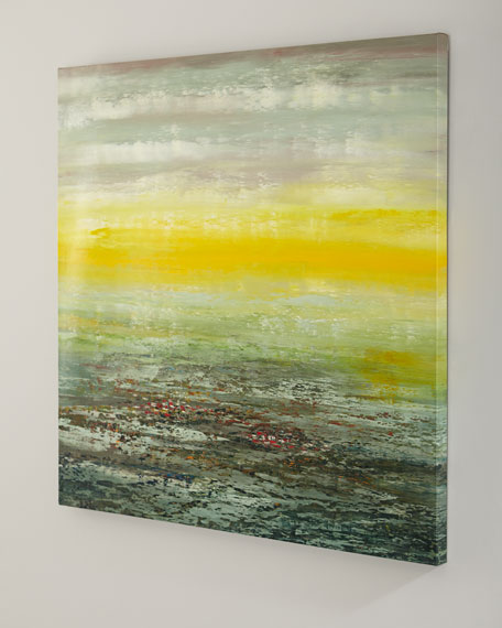 "Jinlu's ""Sunstreak"" Framed Art Print on Canvas"