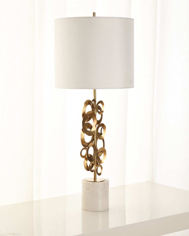 John Richard Collection Brass Buffet Lamp Neiman Marcus