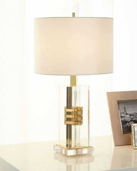 Brass and Acrylic Table Lamp