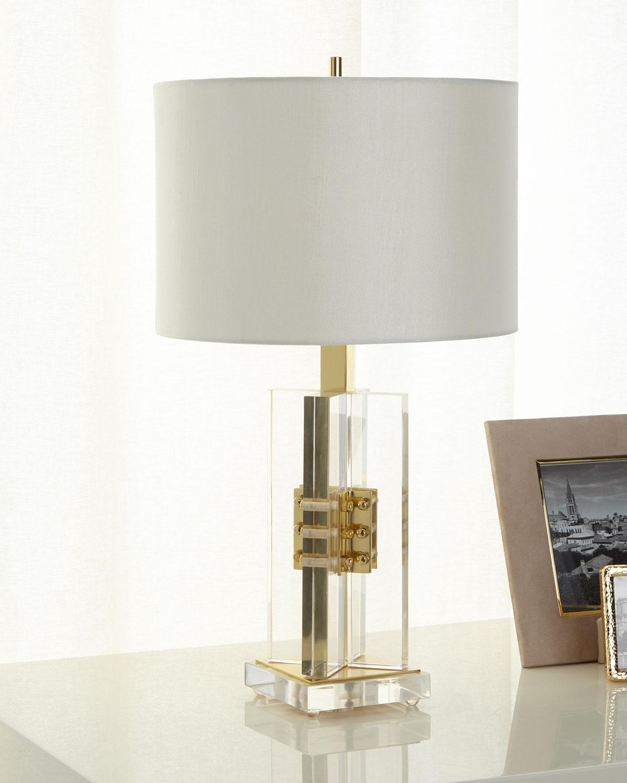 John Richard Collection Brass And Acrylic Table Lamp Neiman Marcus