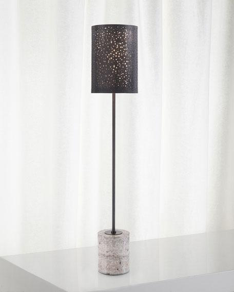 Starlight Illumination Bronze Console Table
