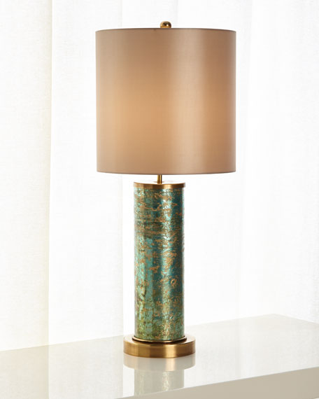 Emerald Brass Table Lamp