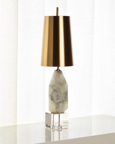 Multifaceted Alabaster Lamp