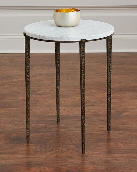 Serra Marble-Top Side Table