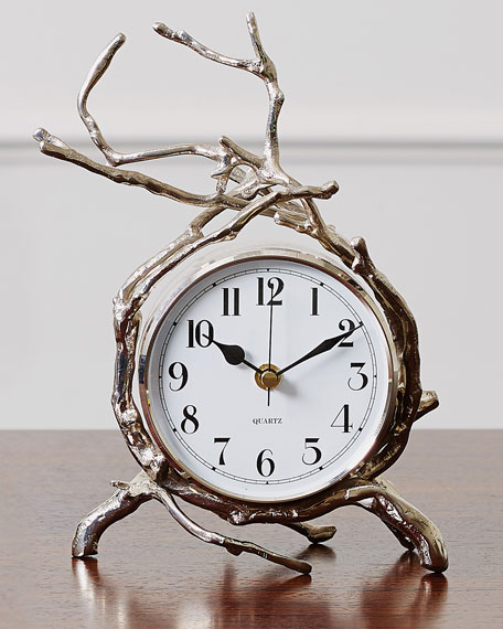 Global Views Twig Nickel Clock