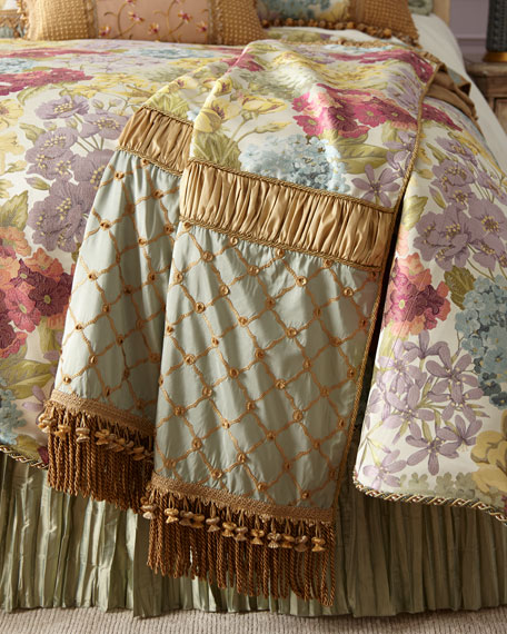 Sweet Dreams Giverny Piece Throw with Bullion Fringe