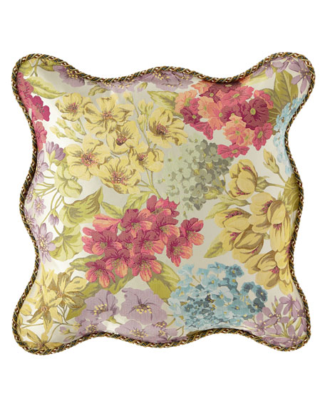 Sweet Dreams Giverny Floral Scalloped European Sham
