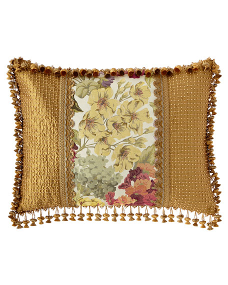 Giverny King Sham with Beaded Sides