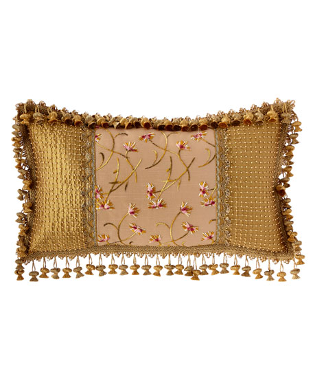 Giverny Oblong Pillow with Onion Fringe