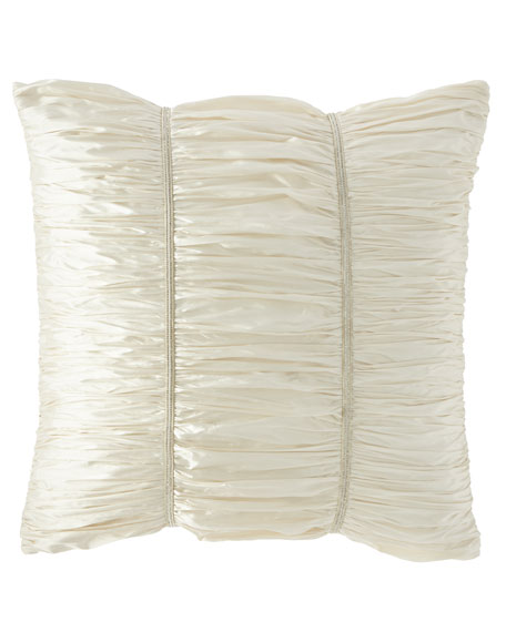 Wedding Bliss Ruched Silk European Sham