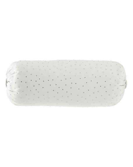 Wedding Bliss Rhinestone Neck Roll Pillow