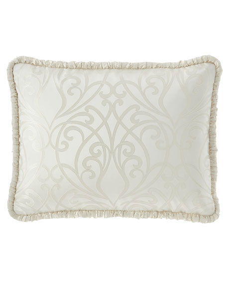 Wedding Bliss King Sham with Silk Piping