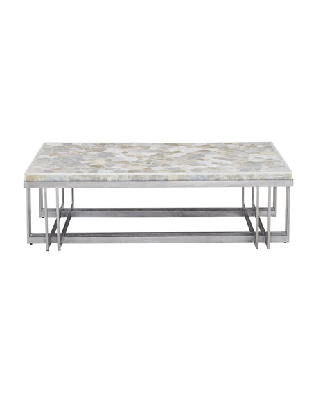 Thiago Onyx-Top Coffee Table