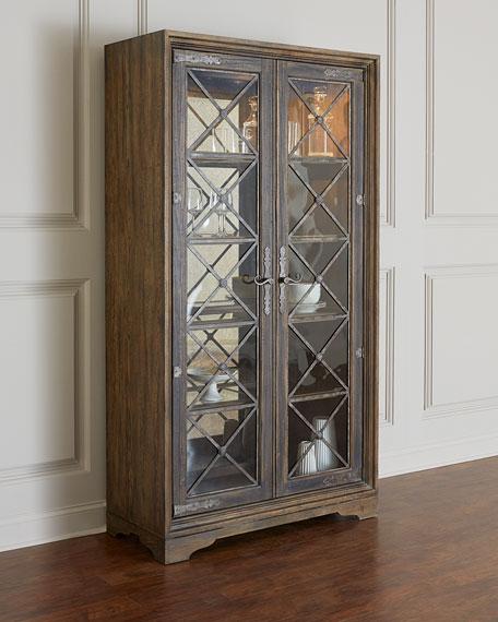 Stryker Lighted Curio Cabinet