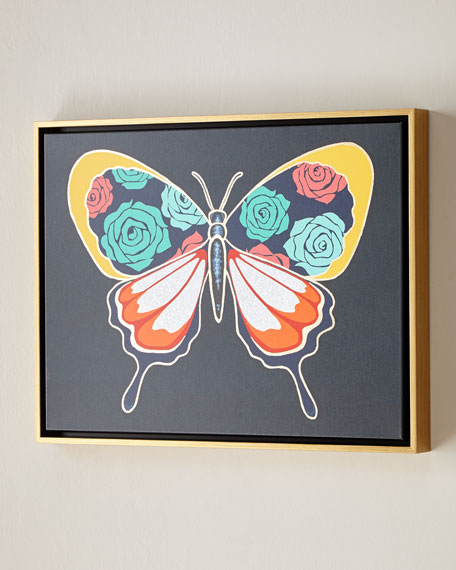 "Luxe Butterfly II Wall Art, 24"" x 18"""