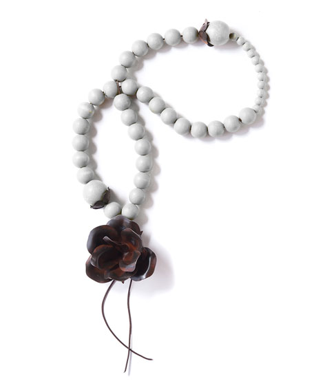 Jan Barboglio Guadalupe Blessing Beads, White