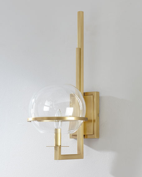 Saturn Natural Brass Sconce