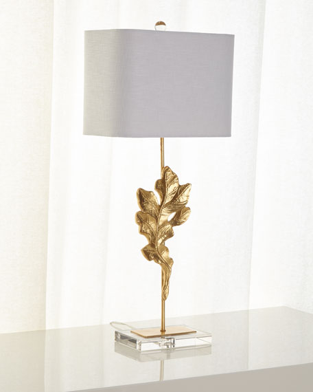 Gold oak leaf table lamp neiman marcus gold oak leaf table lamp aloadofball Image collections
