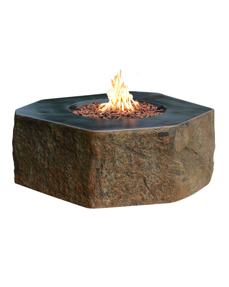 Columbia Outdoor Fire Pit Table with Natural Gas Assembly