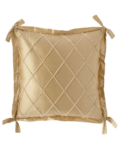 Laurel Diamond Silk European Sham