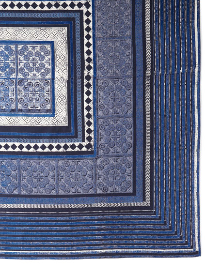 Handprint Santorini Tablecloth, 60