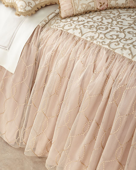 Sweet Dreams Chamonterie King Skirted Coverlet