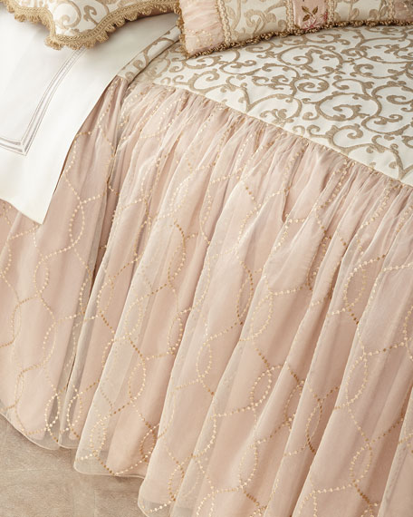 Sweet Dreams Chamonterie Queen Skirted Coverlet