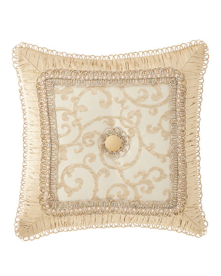 Sweet Dreams Chamonterie Boutique Pillow with Flower Center