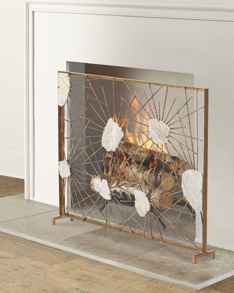 Starburst Fireplace Screen with Marble