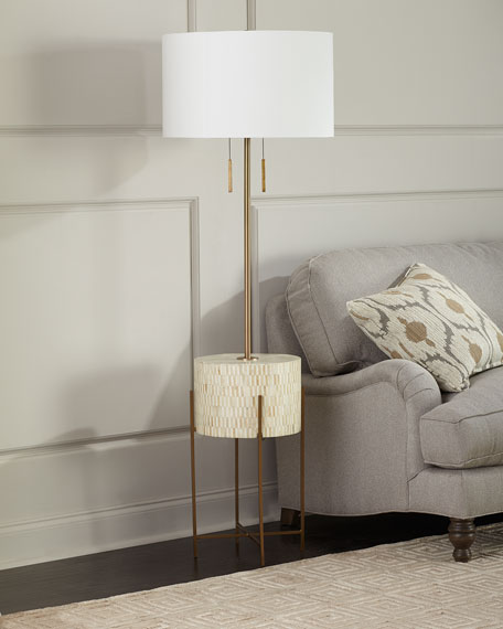 Regina Andrew Design Resse Natural Brass Floor Lamp