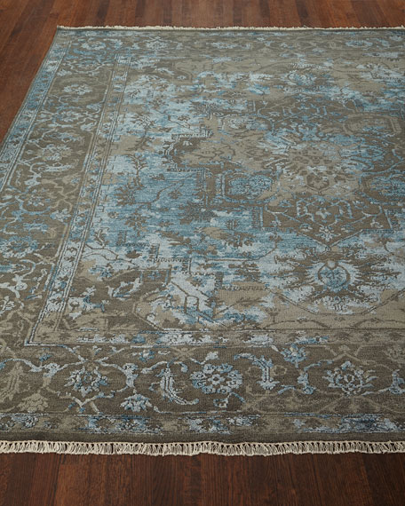 Oath Veil Hand-Knotted Rug, 9' x 12'