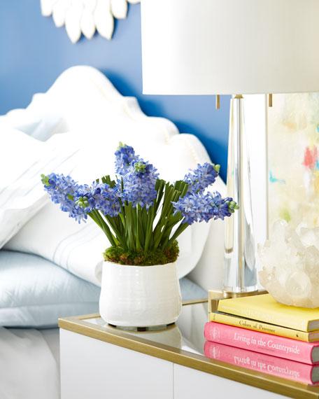 Blue Hyacinth Faux Floral Arrangement