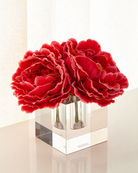John-Richard Collection Sparkling Peonies Faux Floral Arrangement