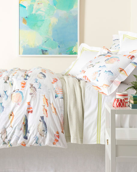 Pine Cone Hill Happy Fish Duvet Cover FullQ