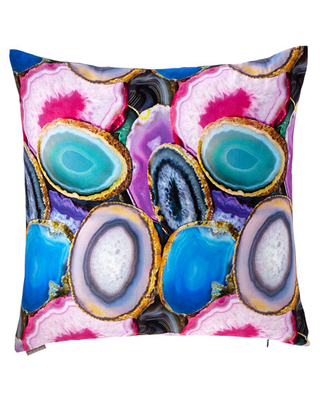 Agate Digital Print Decorative Pillow