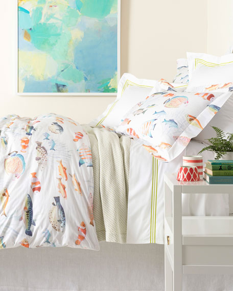 Pine Cone Hill Happy Fish Twin Duvet Cover