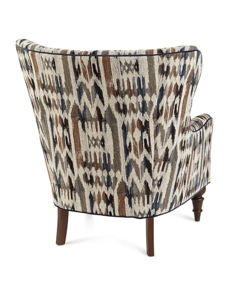 Kesha Button Tufted Wing Chair