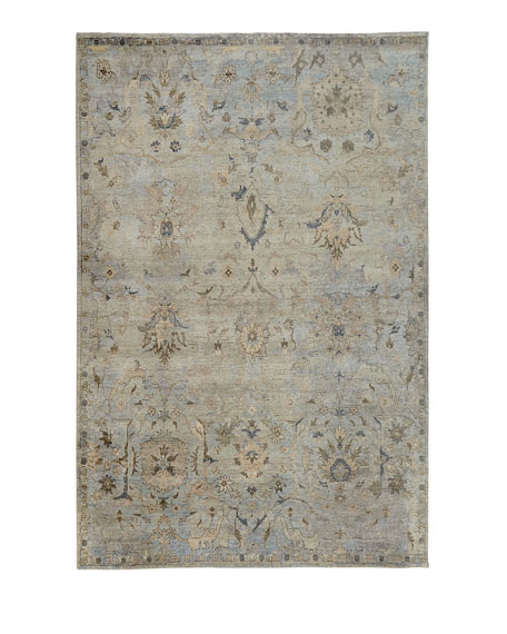 """Cyan Sky Hand-Knotted Runner, 2'6"""" x 10'"""
