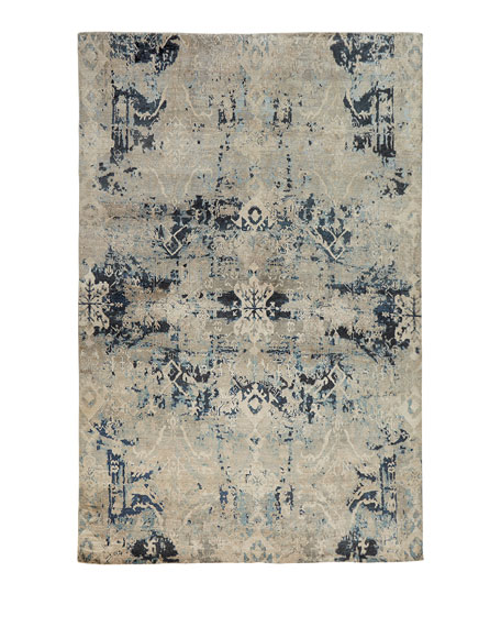 Zaffre Hand-Knotted Rug, 4' x 6'