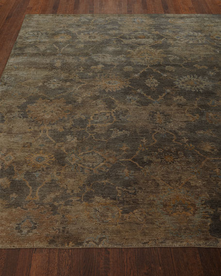 Avani Hand-Knotted Rug, 6' x 9' and Matching