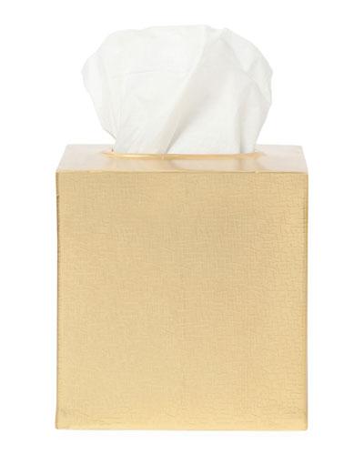 Tiset Tissue Box, Gold