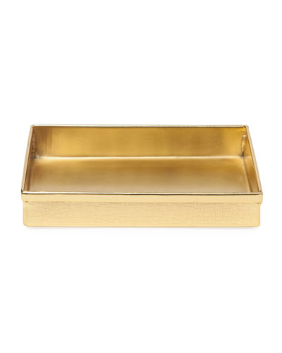 Tiset Soap Dish, Gold