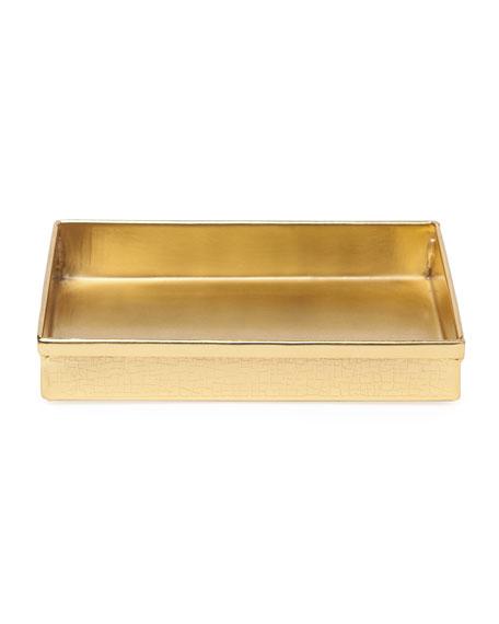 Tiset Soap Dish, Gold