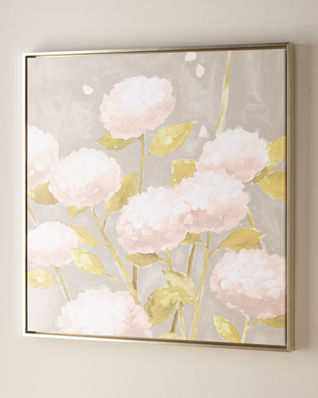 "Blossoms in Night Wall Art, 40""Sq."