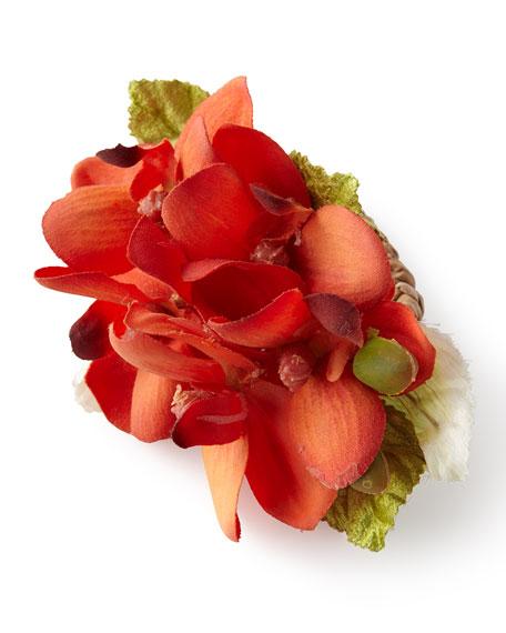 Deborah Rhodes Tropical Orchid Napkin Ring